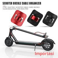 Cable Clamp Buckle Fix Klem Kabel Rem Scooter Sepeda M365 Pro Ninebot - Black On Red