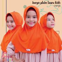 Jilbab bergo serut BPL kids Miulan kerudung anak Polos Orange 2-6TH