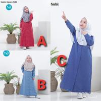 Baju muslim anak perempuan Gamis square nubi 2-5th Gamis anak