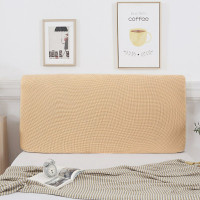 Corn Fleece Bedside Cover Elastic Solid Color Headboard Cover Full Sol