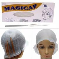 topi higtlight semir bleaching pewarna rambut magicap alat cat hitam