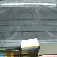 Masker 2ply Yuhai earloop 2ply isi 50pcs/box - Abu-abu