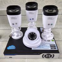 paket 3 outdoor 1 indoor merk CHINON cipset 2mp lens 5mp +HDD 500gb