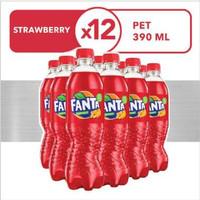 fanta strawberry botol 390mL dus / lusin isi 12