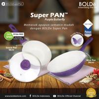 Bolde Super pan Granite 5 pcs sets purple butterfly