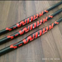 spesialized carbon handlebar flat 31,8 mm 3k glossy red logooo