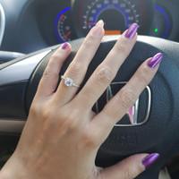 Cincin Zircon model Luxury Square Diamond Elegant SL29072014