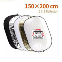 Reflector Board 5in1 Diffuser Cahaya Ref Oval 150x200 5 in 1 Photo