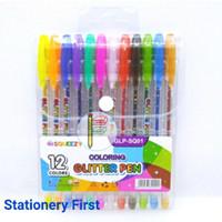 Gel Pen Glitter Fancy Karakter 12 warna