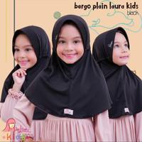 Jilbab bergo serut BPL kids Miulan kerudung anak Hitam 2-6TH