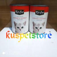 Makanan Kucing Basah- Kitcat Kaleng Sardine & Whitebait Catfood 400 gr