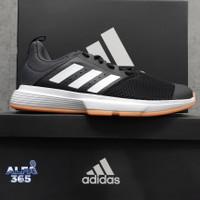 Sepatu Badminton Adidas Essence NEW - Core Black - 2020 - Bulu Tangkis - 40.5