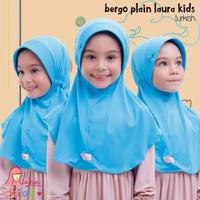 Jilbab bergo serut BPL kids Miulan kerudung anak Biru Turkish 2-6TH