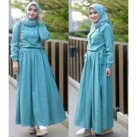 GAMIS DRESS BALOTELLY ALL SIZE FIT L ( 3 WARNA)