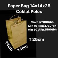 Paper Bag 14x14x25 Coklat Polos