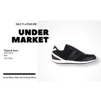 sepatu sneakers pria piero paisley black white