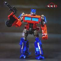 Mainan robot action figures metal tranformers commander- optimus prime