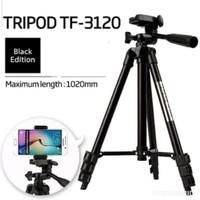TRIPOD 3120 BLACK EDITION 1 METER FOR HANDPHONE & CAMERA