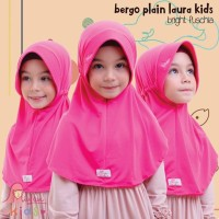 Jilbab bergo serut BPL kids Miulan kerudung anak Bright Fuchia 2-6TH