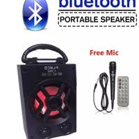 Speaker FLECO 2923 Bonus Mic - Speaker Bluetooth Portable FLECO F 2923
