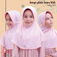Jilbab bergo serut BPL kids Miulan kerudung anak Babypink 2-6TH