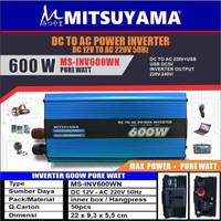 Power Inverter Pure Sine Wave 600W Mitsuyama - Inverter PSW Mitsuyama