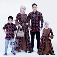 Fashion Muslim Baju Batik Couple Keluarga Jazzy Motif Kawung
