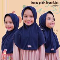 Jilbab bergo serut BPL kids Miulan kerudung anak Navy Dongker 2-6TH