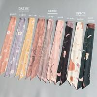 Printed Twilly Hairtie Necktie Bag Cute Pattern Organic Cotton
