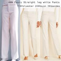ANN Cuvry Stretch white trouser pants