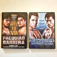 Paket 2 DVD original tinju PACQUIAO (vs Barrera + vs De La Hoya)