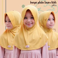 Jilbab bergo serut BPL kids Miulan kerudung anak Kuning Yellow 2-6TH
