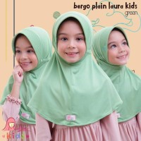 Jilbab bergo serut BPL kids Miulan kerudung anak green hijau 2-6TH