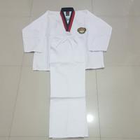 Baju Taekwondo Kerah Merah Dewasa S,ML,XL