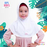 Jilbab bergo serut BPL kids Miulan kerudung sekolah PUTIH 2-6TH
