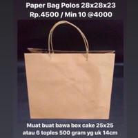 Paper Bag Polos 28x28x23cm