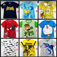 Kaos Anak Laki-Laki Size 1-6 T - Atasan Anak - Kaos Baju Anak Karakter