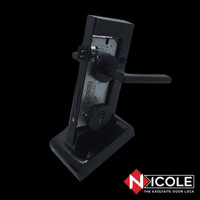 Kunci Pintu Misah Rosette Hitam Doff / Door Lever Handle Bellamour Set
