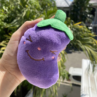 Mainan Anjing / Mainan gigit anjing bentuk eggplant / Mainan kunyah