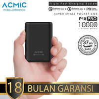 Power Bank Mini Dual Quick Charge 3.0 ACMIC P10 Pro 10000mAh