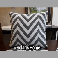 Sarung Bantal Kursi Modern Zig Zag +1 Taplak Sofa