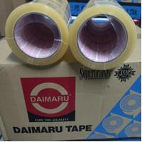 Lakban Daimaru 2inch bening coklat 48mm x 90yard