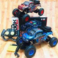 RC mobil Rock Crawler Off-road skala 1:18/mainan remot Control
