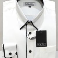 Kemeja pria Rita ricci Putih Doby Slim fit panjang - Putih, S