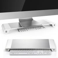 Besegad Meja Monitor Stand Aluminium with 4 USB Port