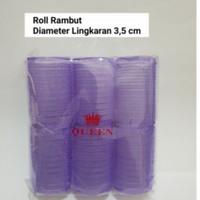 HAIR ROLLER ROL RAMBUT ISI 6 PCS UKURAN 3,5 CM