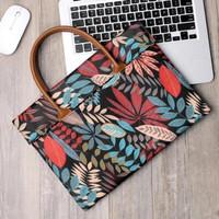 Tas Laptop Softcase Jinjing Macbook Forest Printed 13 inch