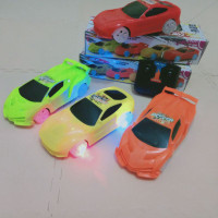RC mobil Racer Car Ada Lampu warna warni l mainan anak remot control