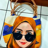 tas hijab motif kacamata