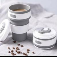 Gelas Lipat Silikon BPA Free Travel Portable Cup